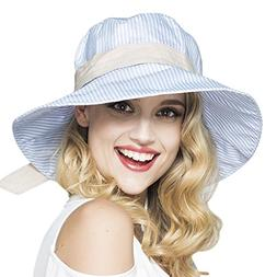 hat summer anti uv striped