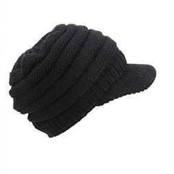 Allywit Hats for Women, Knit Beanie Cap Baggy Beret Hat Hand