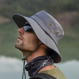 Hats UV Protection Wide Brim Men's Hat Bucket Outdoor Fishin