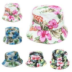 Hawaiian Bucket Hat Floral Hats Fashion Cap Casual Cotton Ca