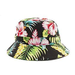 Hawaiian Flower Bucket Hat One Size for Unisex