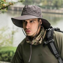 Hot Bucket Hat Boonie Hunting Fishing Outdoor Cap Wide Brim