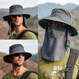 Hot Fishing Bucket Hat Outdoor Sport Sun Protection Neck Fac