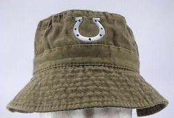 INDIANAPOLIS COLTS NFL VINTAGE FISHING BUCKET HAT CAP L/XL N