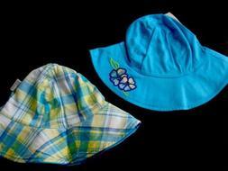 Infant Toddler Girls Sun Dress Pink Beach Sun Bucket Hat Cap