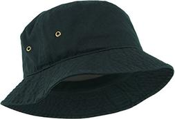 KBETHOS KB-BUCKET1 BLK Unisex 100% Washed Cotton Bucket Hat