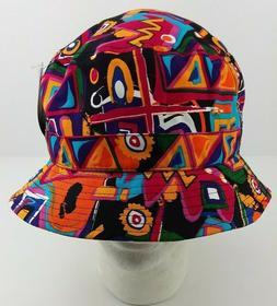 KBETHOS Bucket Hat Cap Fresh Bright Retro 90s Multi-Color Ab