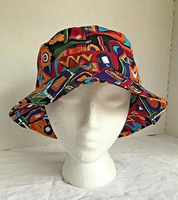KBETHOS Bucket Hat Cap Fresh Bright Retro 90s Multi-Color NW
