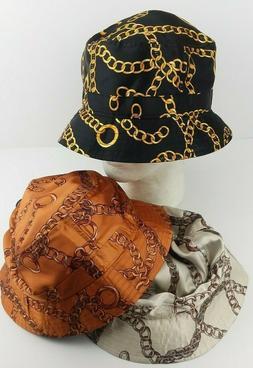 KBethos Gold Chains Bucket Hat/cap/Summer Headwear/Bling Fas