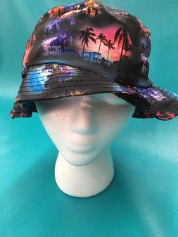 Kbethos Multicolored City Pattern Bucket Boonie Hat