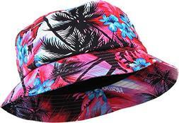 KBETHOS KBM-027 HPK Hawaiian Floral Print Bucket Hat Cap