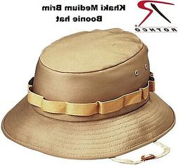 Khaki Boonie Hat Military Style Boonie Bucket Hat Jungle Hat