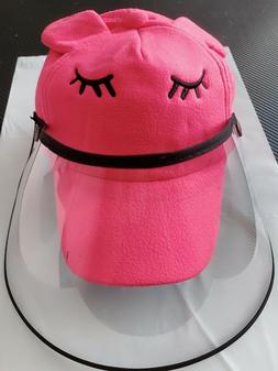 KID face shield bucket hat and cap Boys and Girls Bright col