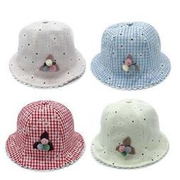 Kids Boys Girls Cap Toddler Bucket Hat Lovely Outdoor Baby C