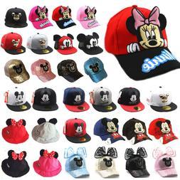 Kids Boys Girls Mickey Minnie Bucket Hat Baseball Caps Hip H