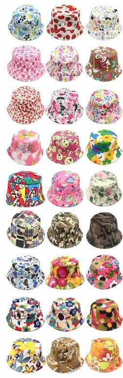 Kids Bucket Hat Cap Baby Summer Hats Boy Girls Sun Hats Canv