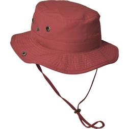 Kids Dorfman Pacific Red Nylon Boonie Size 4-6X C448