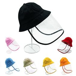 Kids Toddler Bucket Hat W/ Face Shield Anti Droplets Protect