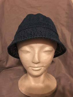 Dorfman Pacific Kids Twill Reversible Bucket Hat NWT Navy