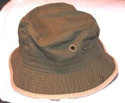 Dorfman Pacific Kindercaps Bucket Hat/Cap 4-6X Army Olive Gr