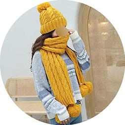 Knit Hat Handmade Scarf Twisted Two Piece Set Winter Warm Ne