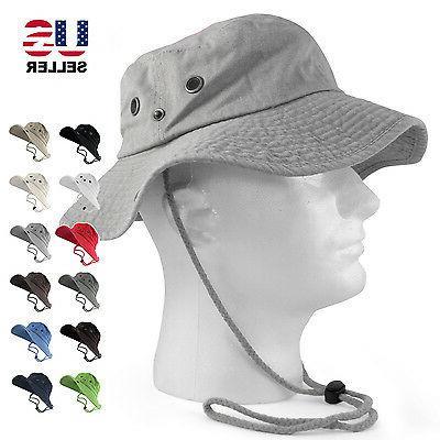 100 percent cotton safari hats bucket wide