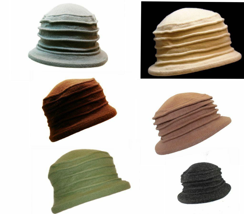100 percent wool unisex women floral hat