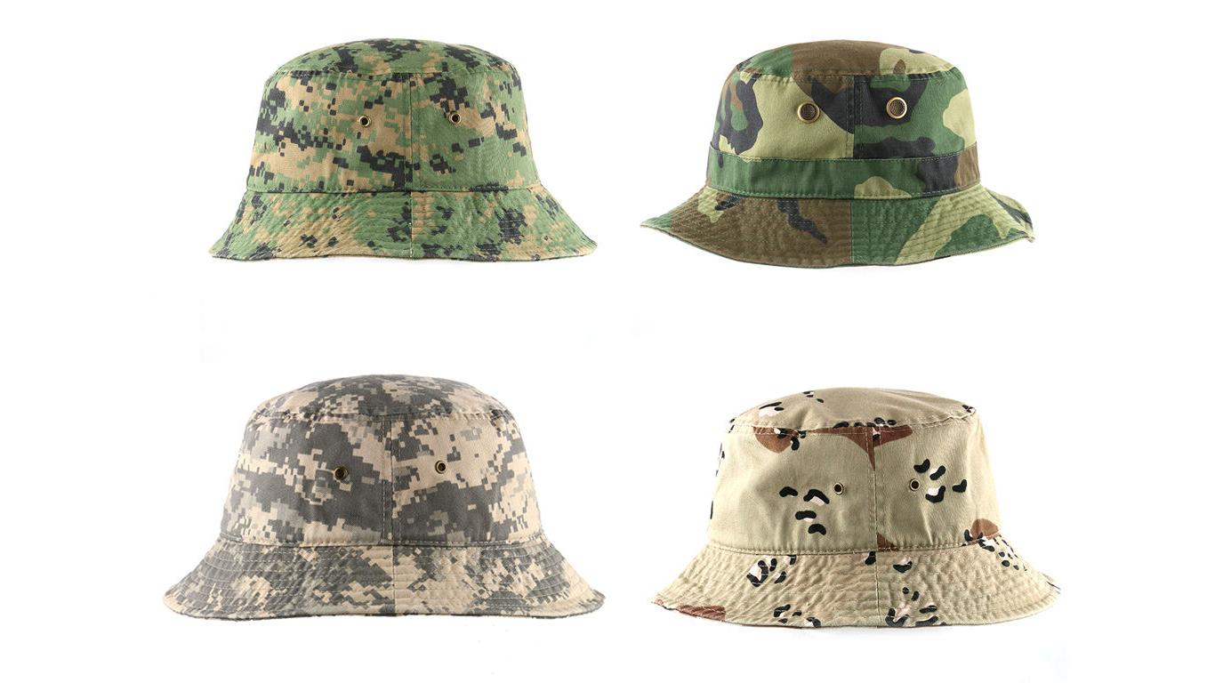 Newhattan 1500 Washed Bucket Hat Fishermen Summer Cap Tags
