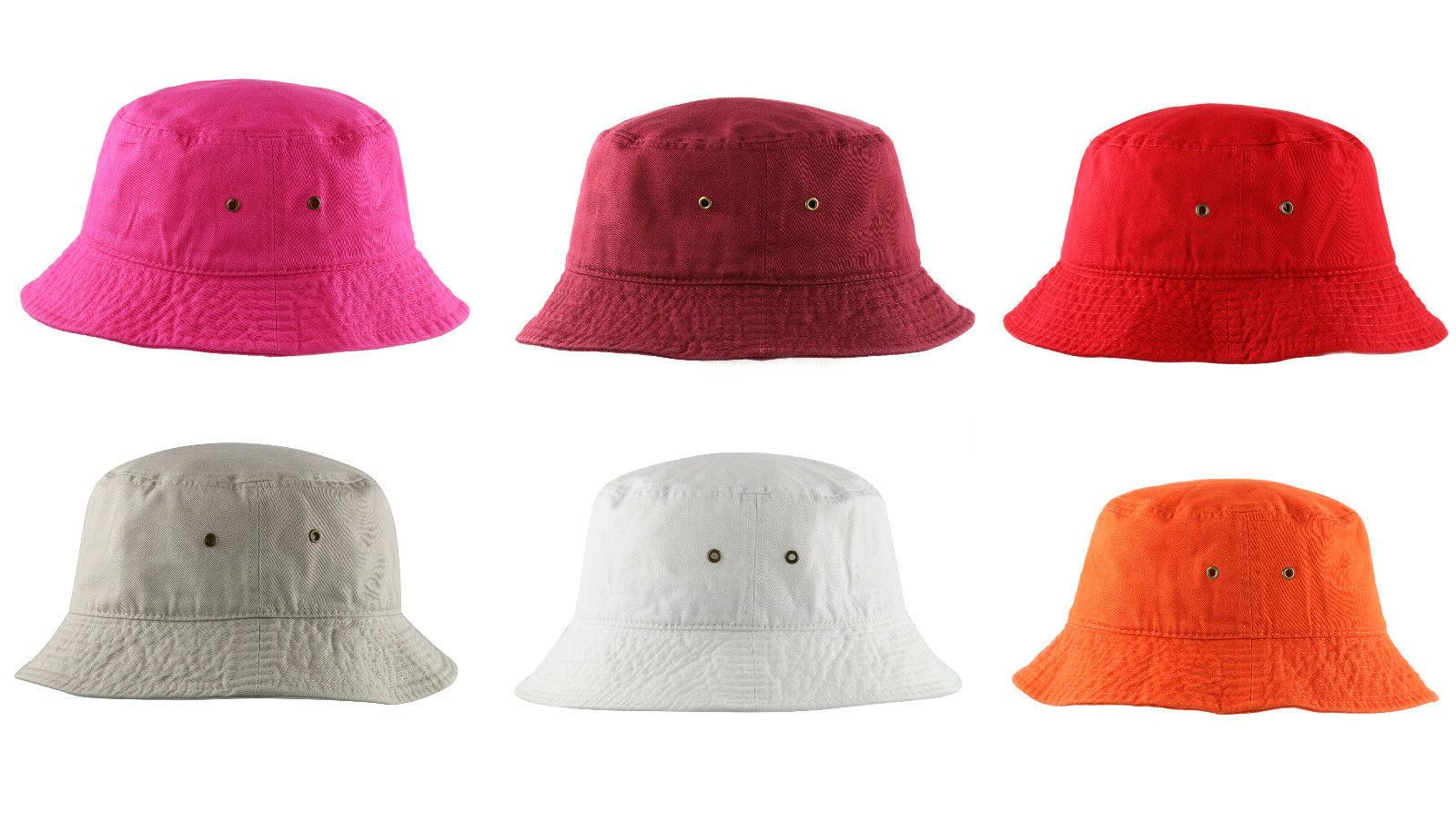 Newhattan 1500 Washed Bucket Hat Summer Tags