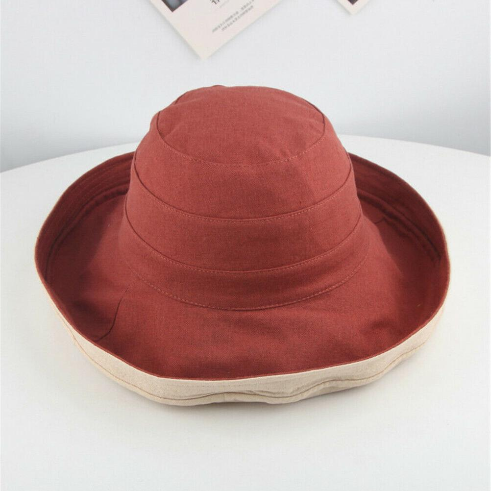 7c0e6d00e77 1PC Wide Brim Cap Floppy Summer Sun Hat Beach Hat Bucket Hat