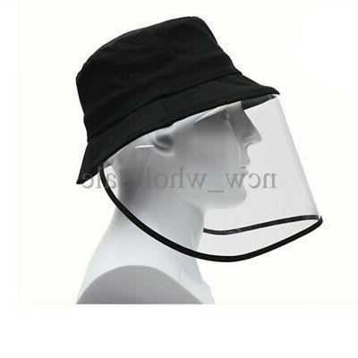 2 Fisherman Bucket Anti Saliva Protective Cap Face Dustproof
