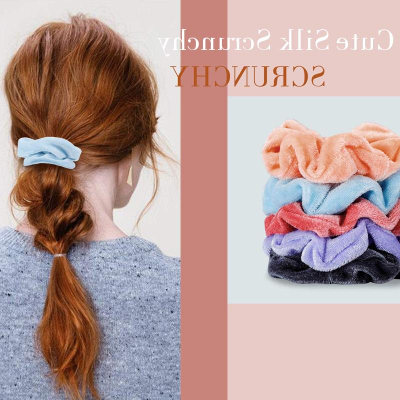 30 Pcs Hair for 10 Velvet Scrunchies 10