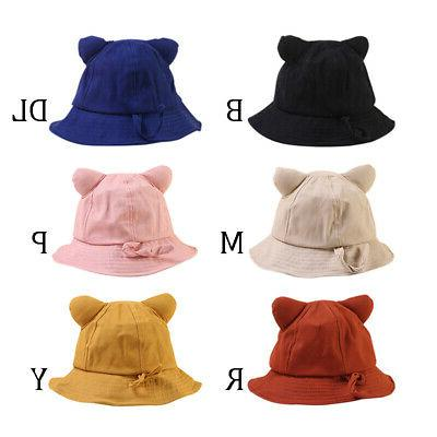 6 Colors Baby Boys Girls Toddler Ear Hats Caps Headwear