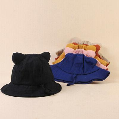 6 Baby Girls Bucket Hats Reversible Headwear
