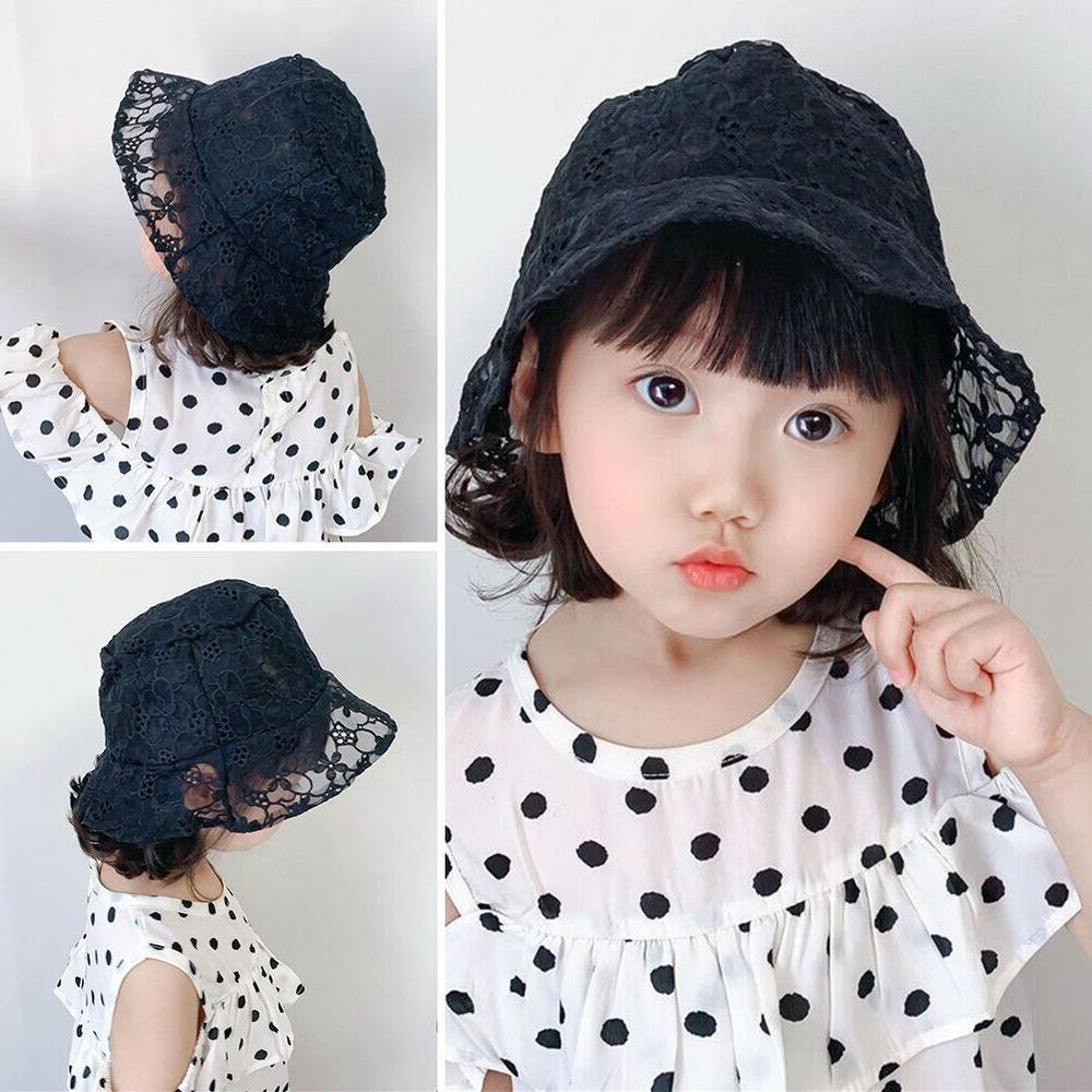 TH_ Kids Girls Floral Clover Hollow Breathable Fisherman Cap Bucket Hat Cut