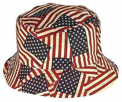 Tropic Adult Flag Bucket Cap New