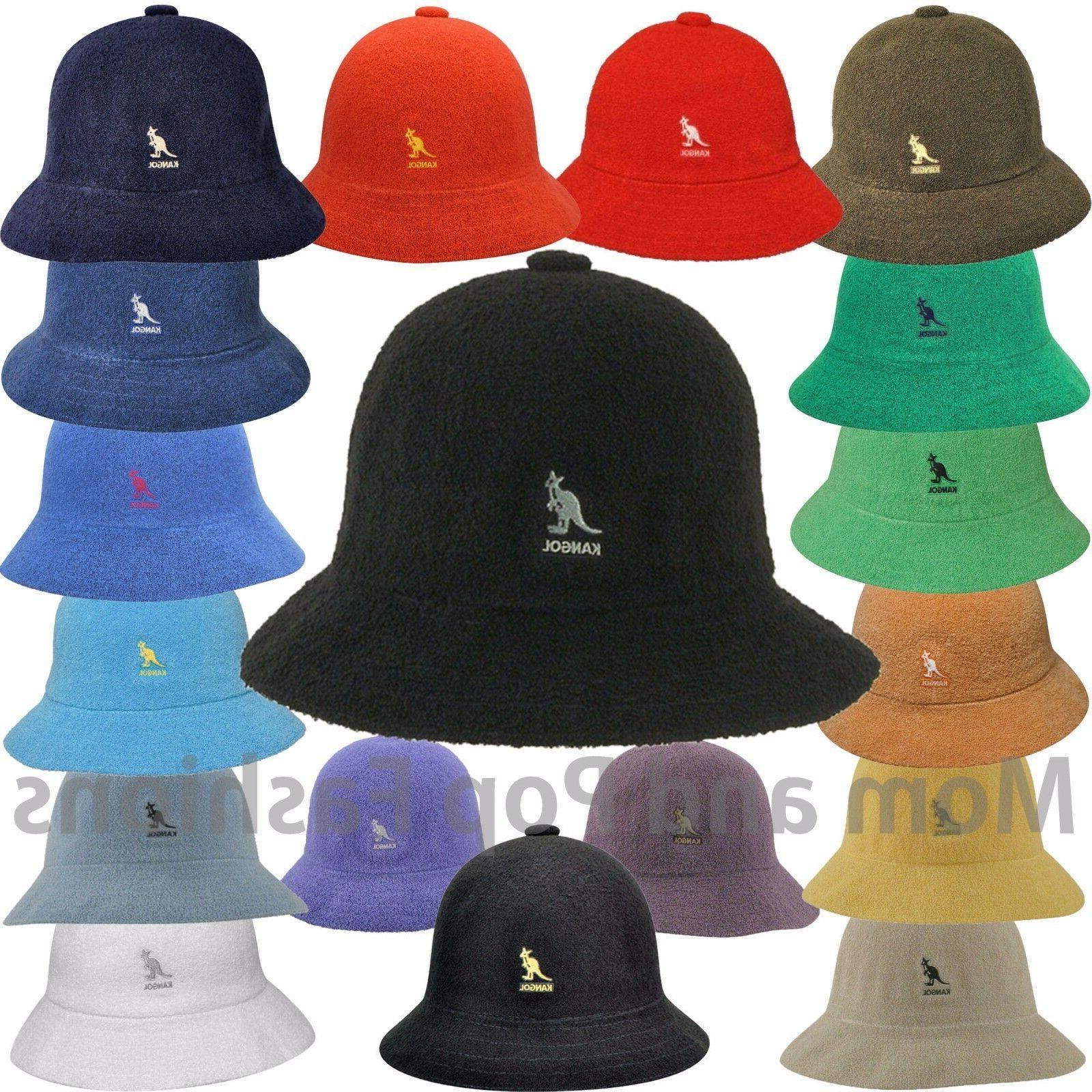 Black  KANGOL  Bermuda  Casual   Bucket  Hat  Style 0397BC