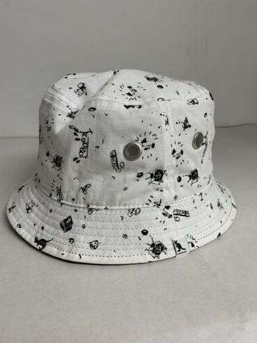 Authentic Kangol Black Reversible Bucket Beach Size Large Stain