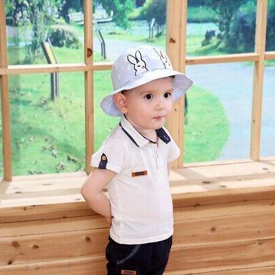 Autumn Baby Toddler Bucket Hats Caps Protection Hats