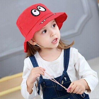 Autumn Girls Toddler Cartoon Hats Caps UV Hats