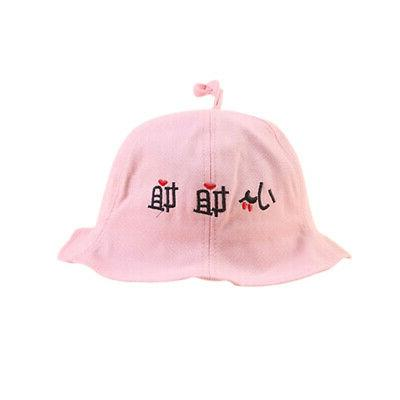 Autumn Baby Girls Toddler Words Bucket Hats Casual Sun Headwear