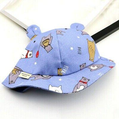 Toddler Cartoon Bucket Caps Sun Protection