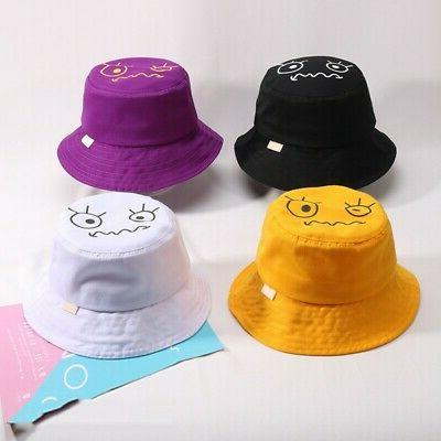 Baby Boy Girls Toddler Cartoon Pattern Bucket Hats Reversible Sun Hat