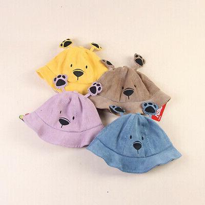 Baby Cartoon Ear Caps Sun Headwear
