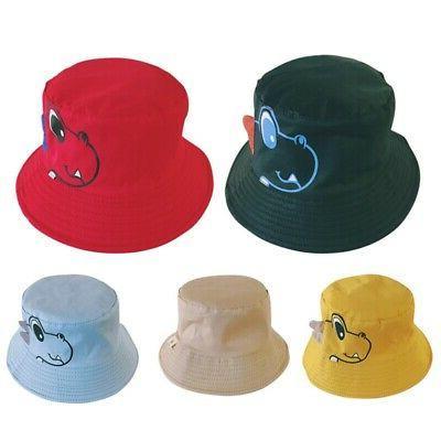Toddler Cartoon Print Bucket Hats Sun Headwear