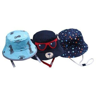 Spring Girls Toddler Bucket Hats Caps Reversible