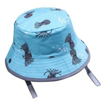 Baby Toddler Cartoon Printed Bucket Hats Caps Reversible Hat Cap