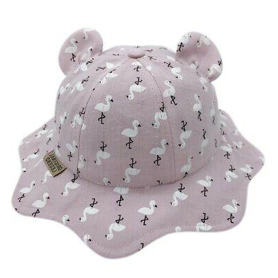 Baby Boys Girls Hats Animal Printed Hats with Ear Sun Caps
