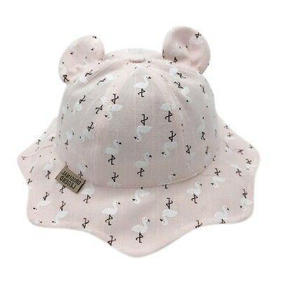 Baby Girls Hats Printed Sun