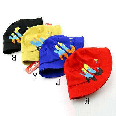 Baby Letter Print Bucket Hats Caps Sun Headwear US